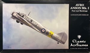Avro Anson Mk.1 Post-War Markings 1/48