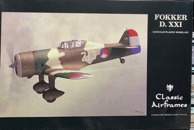 Dutch defender Fokker D.XXI   1/48
