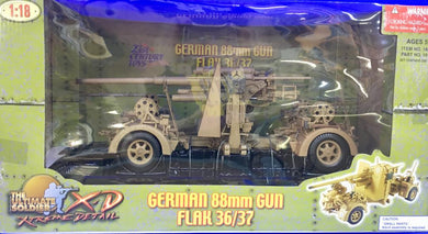 German 88mm Gun Flak 36/37   1/18 Scale