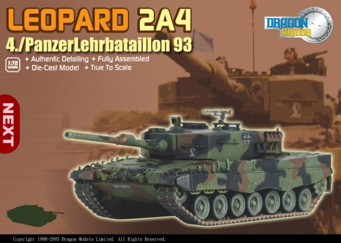 Leopard 2A4, 4./Panzerlehrbataillon 93 By Dragon