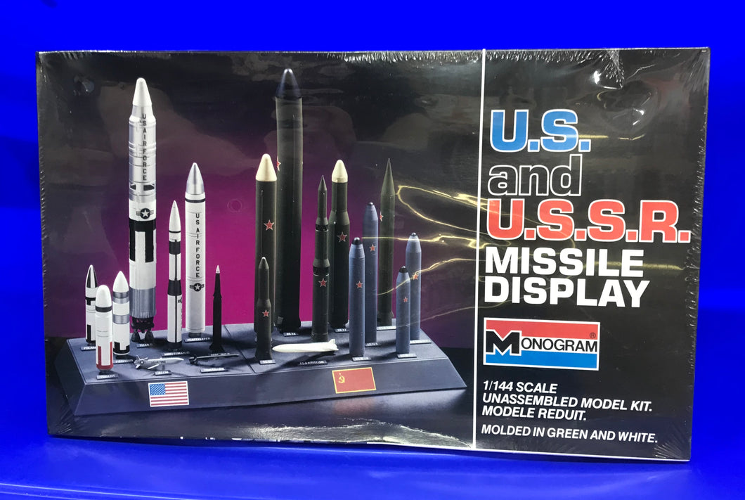 U.S. & U.S.S.R. Missile Display  1/144 scale