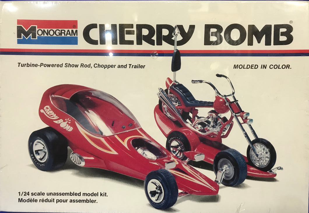 Tom Daniel's Cherry Bomb Turbine-Powered Show Rod, Chopper and Trailer 1/24