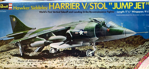 "Hawker Siddeley Harrier V/STOL ""Jump Jet"" 1/32  1973 Issue"
