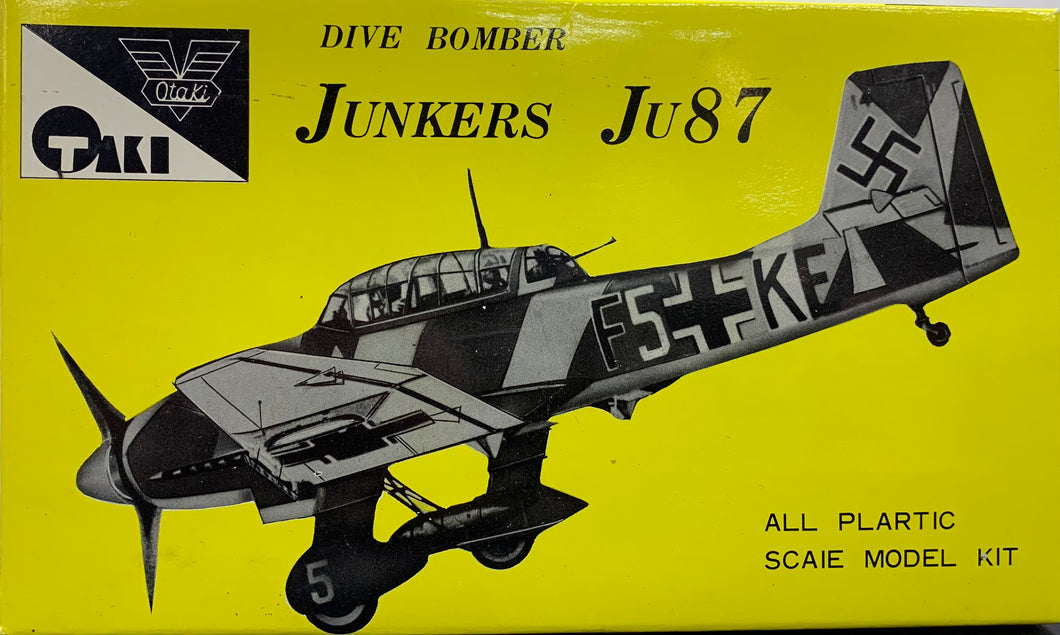 Junkers Ju87 Dive Bomber 1/72 Rare 1967 issue