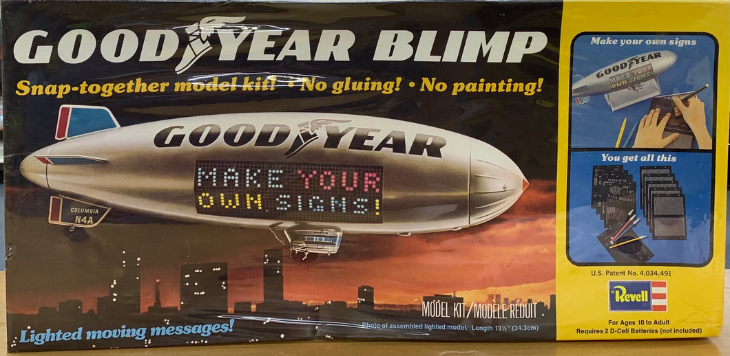 Goodyear Blimp with Motorized Rotating and Light up Sign 1/169 1977 Issue
