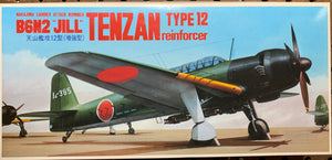 "Nakajima Carrier Attack Bomber B6N2 ""Jill"" Tenzan  1/72  1984 Issue"