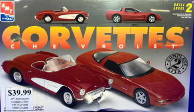 Chevrolet Corvettes 1957 & 1997 Two Kits 1/25