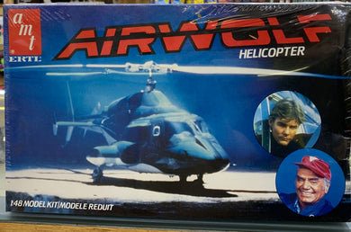 AIRWOLF Helicopter 1/48 Model Kit by AMT 1984 Initial release