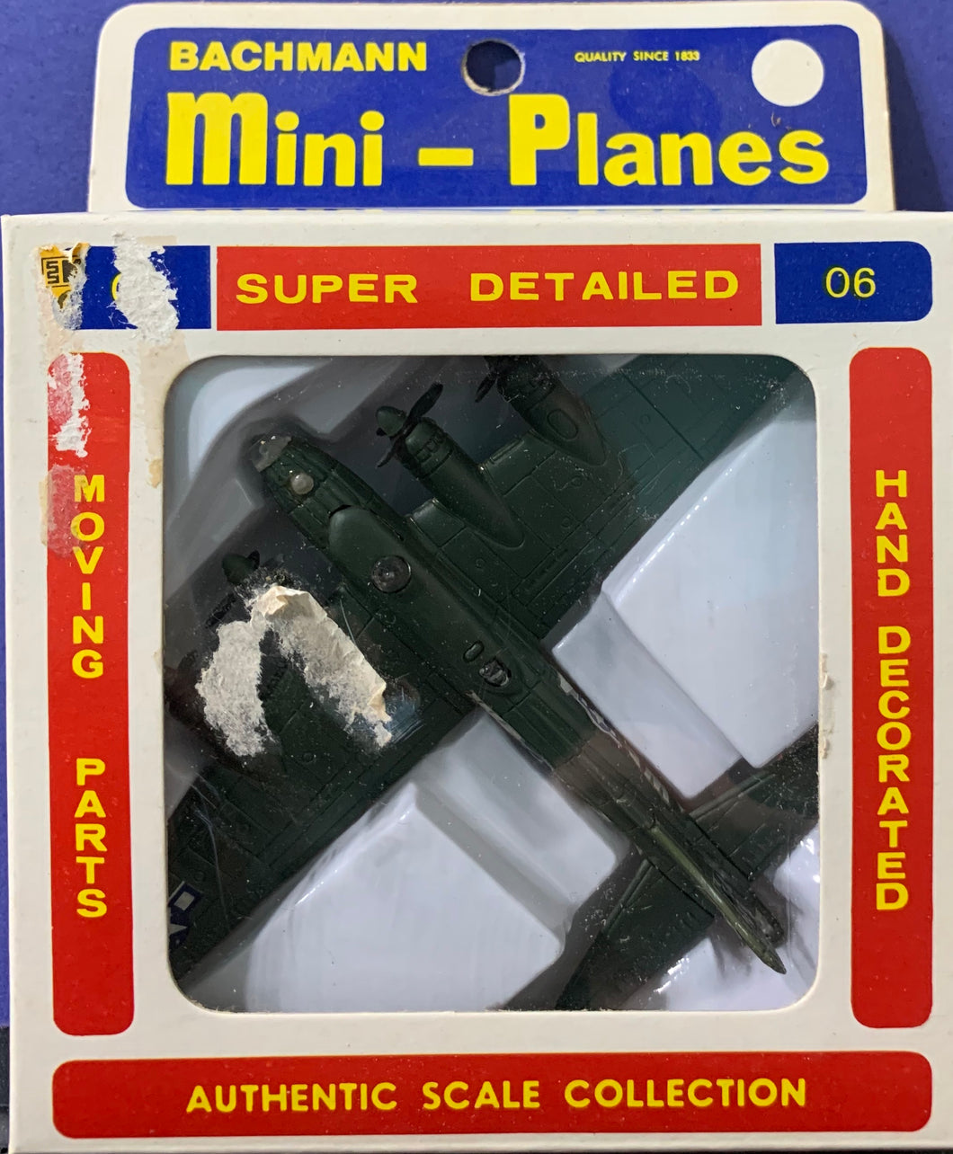 Bachmann Mini Planes, #06 B-17 Flying Fortress 1/250 1970's issue