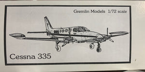 Cessna 335 1/72 Resin Kit by Gremlin