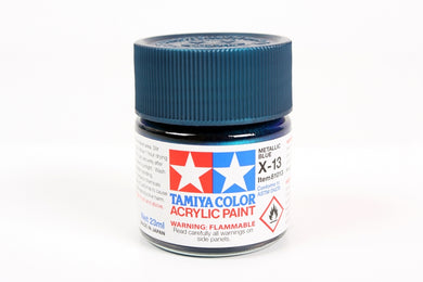 Tamiya  ACRYLIC X-13 METALLIC BLUE 23Ml Bottle, glossy finish