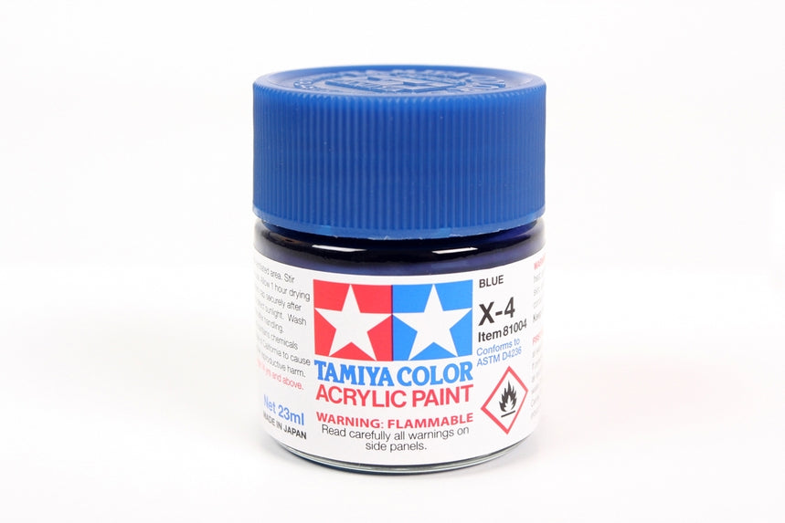 Tamiya  ACRYLIC X-4 BLUE 23Ml Bottle, glossy finish