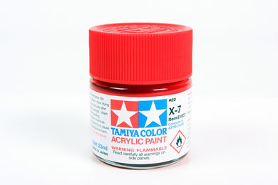 Tamiya  ACRYLIC X-7 RED 23Ml Bottle, glossy finish
