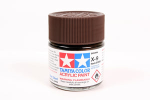 Tamiya  ACRYLIC X-9 BROWN 23Ml Bottle, glossy finish