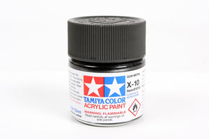 Tamiya  ACRYLIC X-10 GUN METAL 23Ml Bottle, glossy finish
