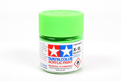 Tamiya  ACRYLIC   X-15 LIGHT GREEN 23Ml Bottle, glossy finish