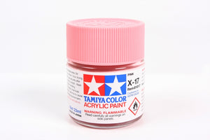 Tamiya  ACRYLIC    X-17 PINK 23Ml Bottle, glossy finish