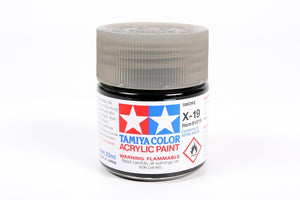 Tamiya  ACRYLIC X-19 SMOKE 23Ml Bottle, glossy finish