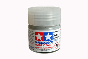 Tamiya  ACRYLIC X-21 FLAT BASE 23Ml Bottle