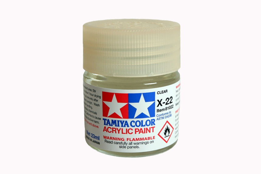 Tamiya  ACRYLIC X-22 CLEAR 23Ml Bottle