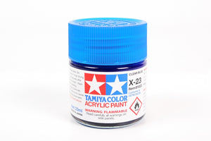 Tamiya  ACRYLIC X-23 CLEAR BLUE 23Ml Bottle