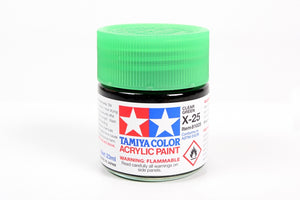 Tamiya  ACRYLIC X-25 CLEAR GREEN 23Ml Bottle