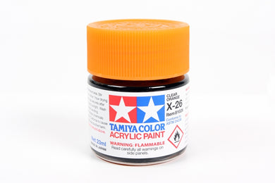 Tamiya  ACRYLIC X-26 CLEAR ORANGE 23Ml Bottle