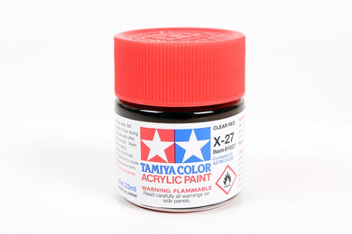 Tamiya  ACRYLIC X-27 CLEAR RED 23Ml Bottle