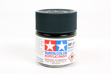 Tamiya  ACRYLIC XF-17 FLAT SEA BLUE 23Ml Bottle