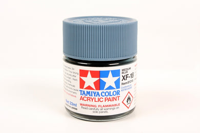 Tamiya  ACRYLIC XF-18 MEDIUM BLUE 23Ml Bottle