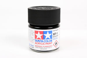 Tamiya  ACRYLIC XF-1 FLAT BLACK 23Ml Bottle