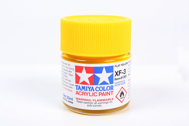 Tamiya  ACRYLIC XF-3 FLAT YELLOW 23Ml Bottle