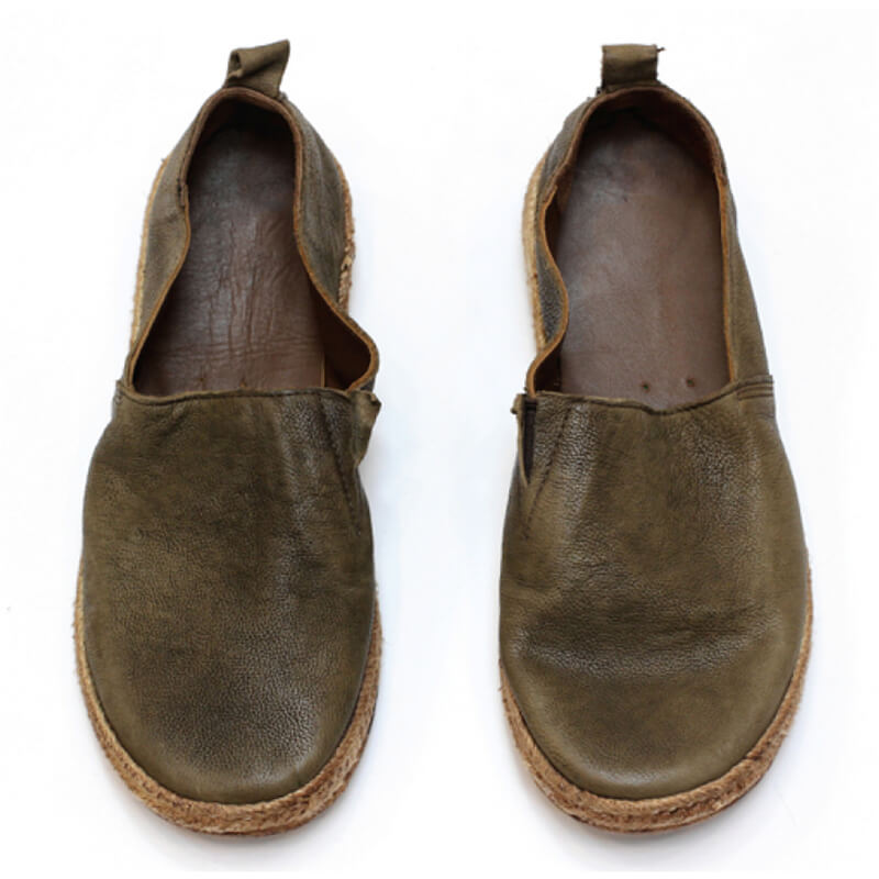Handmade Brush-off Casual Leather Loafers Shoes