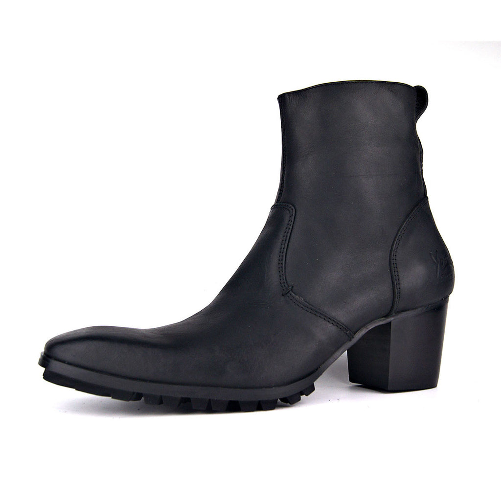 Pointed High-Top Zipper Boots