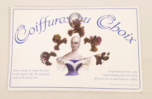 19th Century Paper Doll Reproduction Coiffures au Choix