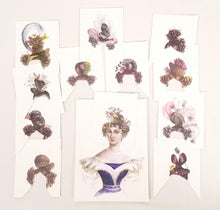 Load image into Gallery viewer, 19th Century Paper Doll Reproduction Coiffures au Choix