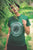 Model Wearing Green Mandala art T-shirt- Bipolar - created by Soul Stir designed exclusive for Artblot.in
