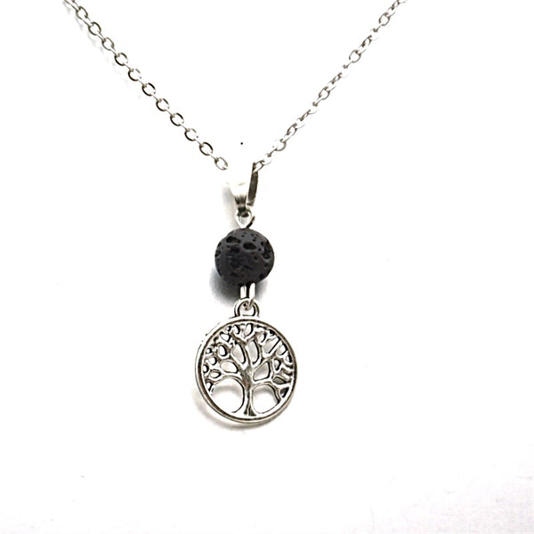 AROMATHERAPY TREE OF LIFE DIFFUSER NECKLACE