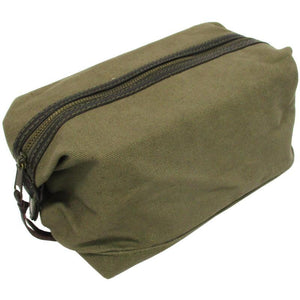Canvas & Leather Toiletry Bag
