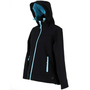 Rosella Ebony Softshell Jacket (blue trim)