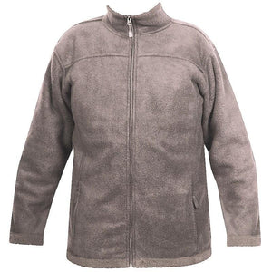 Mens Wool Look Fleece Jacket - Latte