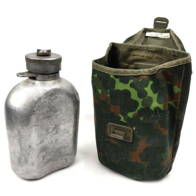 German Army Aluminium Canteen with Cover