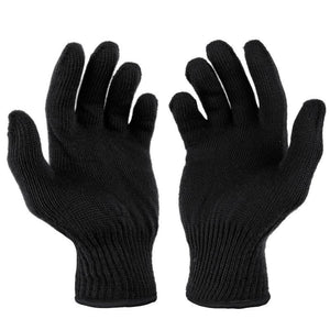 Thermal Polyprop Gloves - Black
