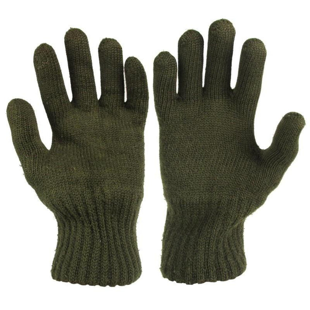 Czech Army OD Wool Gloves - New