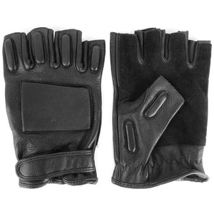 Leather Fingerless Tactical Gloves