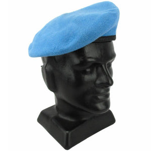 German Army UN Blue Beret with Patch