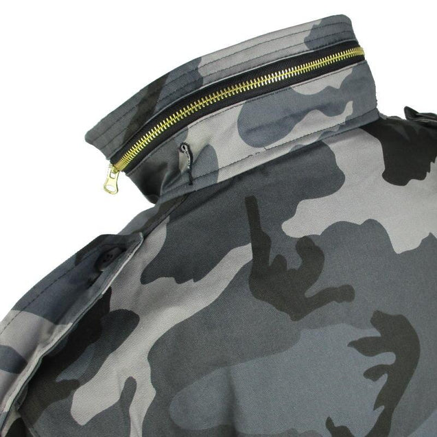 Dark Camo M65 Jacket With Liner