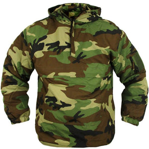 Tactical Fleece Lined Anorak - Woodland