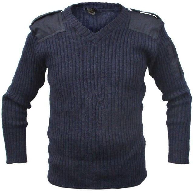 British Royal Navy Wool V-Neck Jersey
