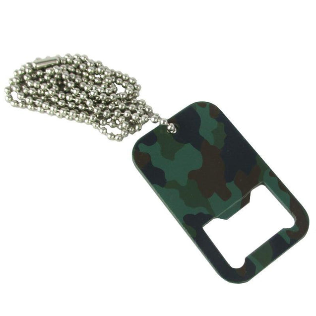 Dog Tag Bottle Opener & Long Chain